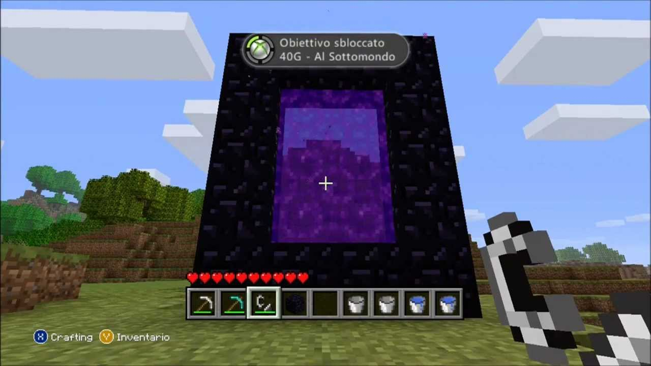 How To Craft A Nether Portal In Minecraft Xbox