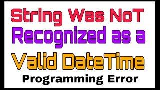 How to fix asp.net datetime error
