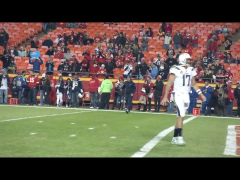 Chargers LIVE: Team warm-ups at Arrowhead Stadium. Kickoff at 5:30 p.m. PT on NFL Network.