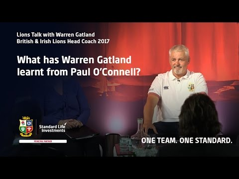 Lions Talk with Warren Gatland - lessons from Paul O'Connell