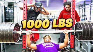 EXTREME YOUTUBER BENCH PRESS CHALLENGE  w Agent 00 and Jon