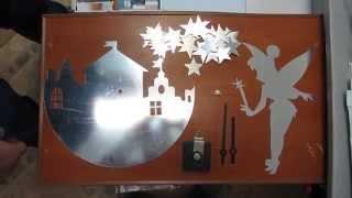 Обзор часы виниловые зеркальные стикеры