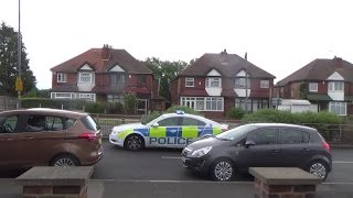 West Midlands Police Area Car BWR53 Vauxhall Insignia on shout outside Perry Barr Fire Sta
