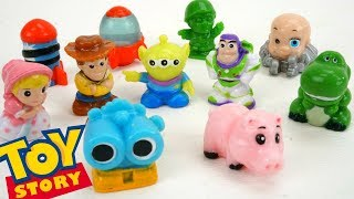 Toy Story Squinkies Collection Buzz Lightyear Woody Ham Rex Squishies DAY 21