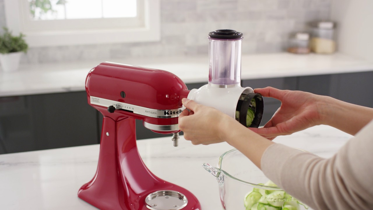 Kitchenaid Attachments Cheese Grater How To Clean The Fresh Prep Slicershredder Attachment
