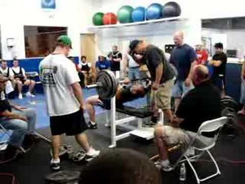 Bristol RI Health Club Ultimate Fitness Gym - Louie Stravato BP 320 at 220 lb Masters