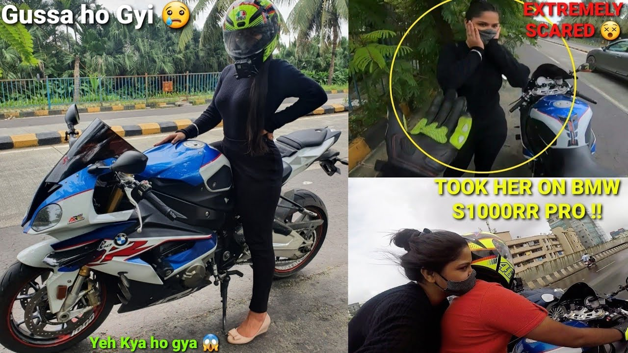 Girl Got Extremely Scared With Bmw S1000rr Power😱|Her First Ride|Must watch|Z900 Rider