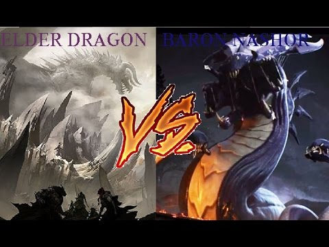 Elder Dragon VS Baron Nashor! - League of Legends