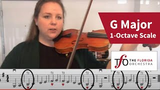 G Major 1-Octave Scale