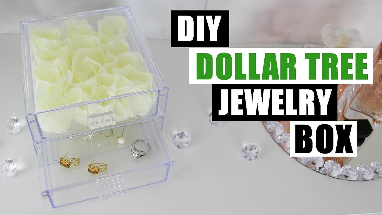 DIY DOLLAR TREE FLORAL JEWELRY BOX Venus ET Fleur Inspired DIY
