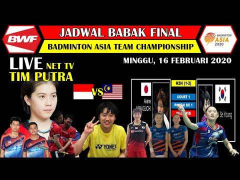 Jadwal Final Badminton Asia Team Championship 2020 Live Net TV ~ Indonesia VS Malaysia BATC 2020