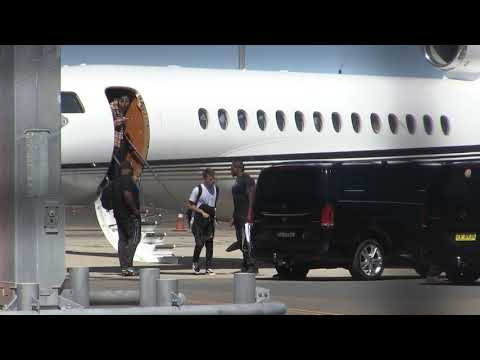 'Tyga rapper & his rentourage spotted on private jet in Sydney, Australia' #15MOF #exclusive