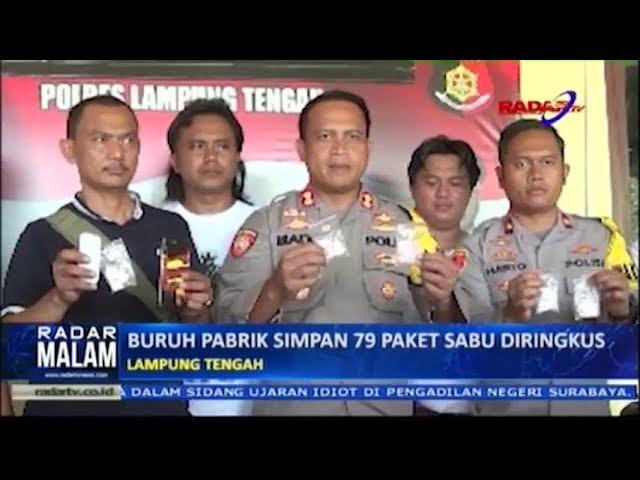 Buruh Pabrik Di tangkap Polisi Karena Simpan Sabu 79 Paket