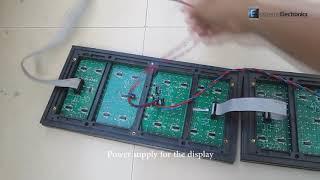 Temperature and Humidity Display on P10 32x16 LED DMD Dot Matrix