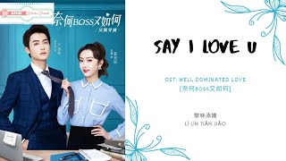 Download Lagu Say I Love U - 黎林添嬌 OST. Well Dominated Love 《奈何BOSS又如何》 PINYIN LYRIC mp3