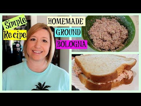 SIMPLE Recipe for HOMEMADE GROUND BOLOGNA
