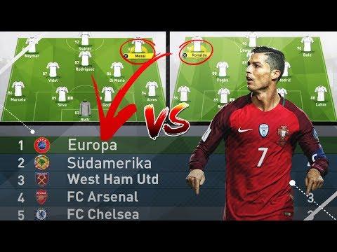 EUROPAS BESTES VS. SÜDAMERIKAS BESTES TEAM IN EINER LIGA!?? 🔥😱  - FIFA 17 EXPERIMENT (DEUTSCH)