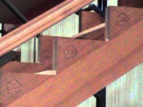 Fabricacion de escalera de madera con curva www for Escalera de jardin de madera