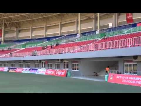 Inside Football Stadium in Nay Pyi Taw, Myanmar