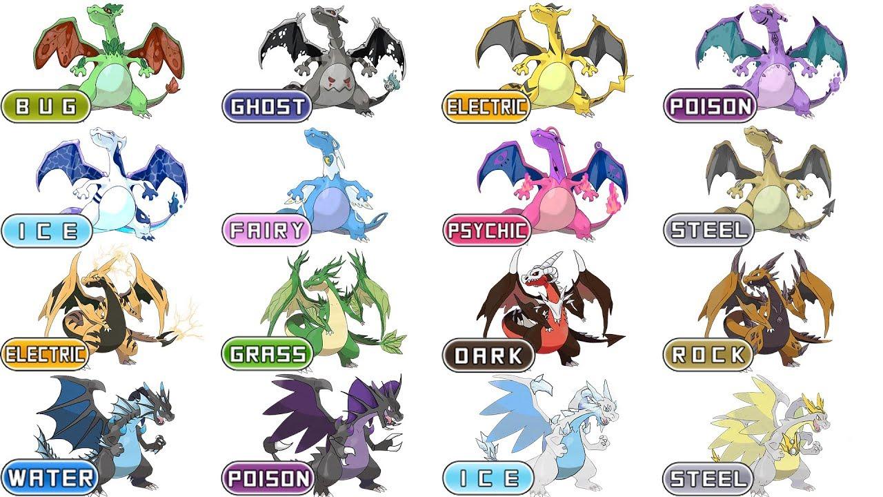 top 17 charizard mega charizard type swap compilation pokemon
