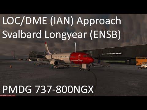 [Prepar3D v3] LOC/DME Approach Svalbard (ENSB)   PMDG 737NGX (IAN)