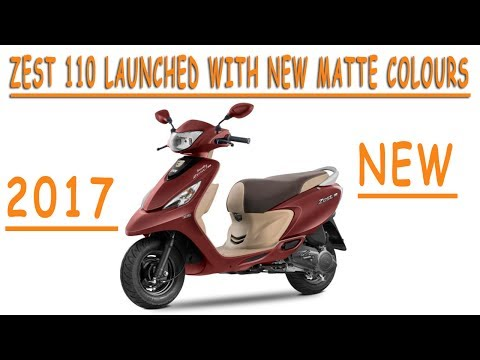 2017 TVS Scooty Zest 110 Matte Series Launched l New Feature, Price And Specification