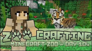 Zoo Crafting! South Chinese Tiger Exhibit Complete!! - Episode #104 | Season 2