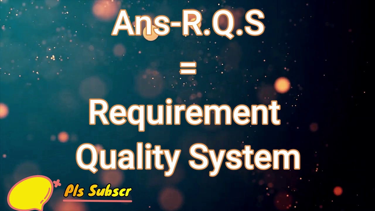 Download What is the meaning of OQL,RQS,RMG,DCL,DQA,GPQ //PART-8