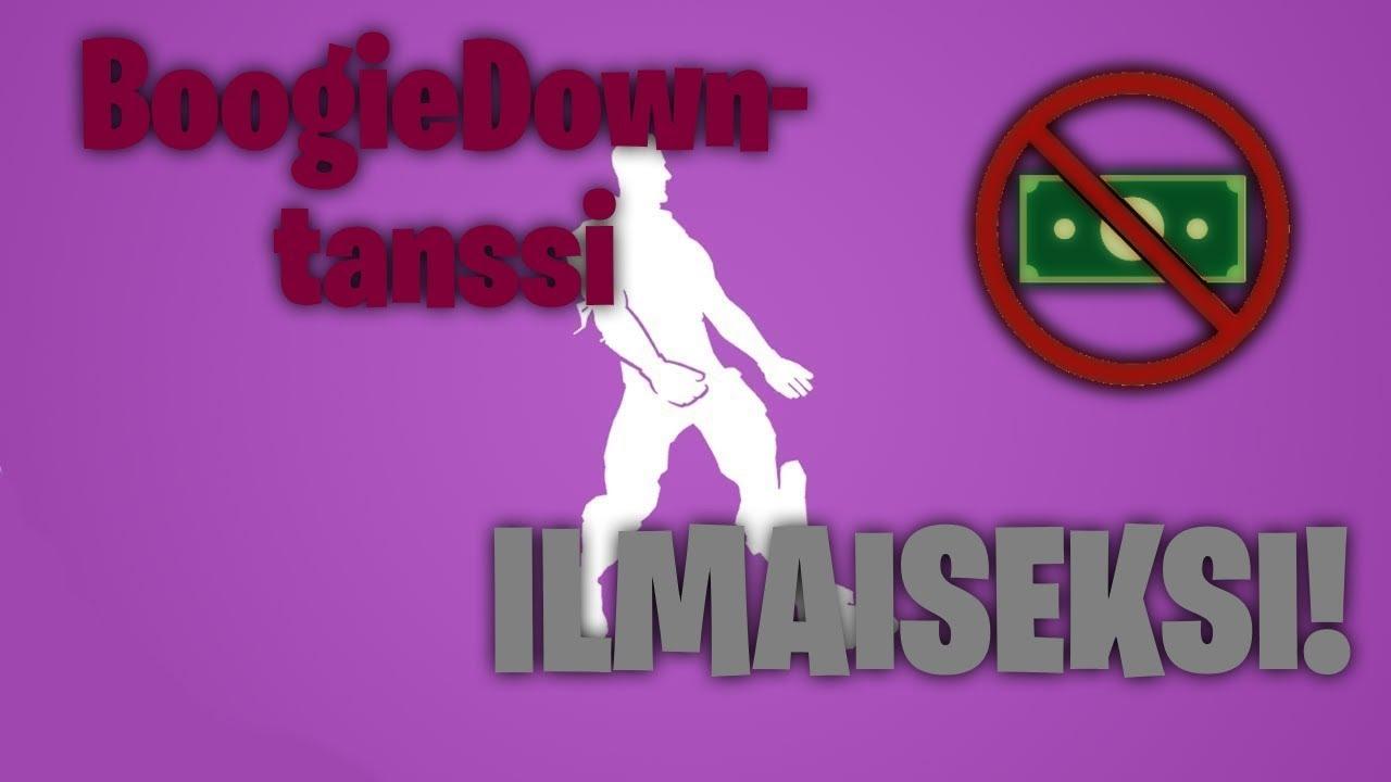 Kuinka saada BoogieDown-tanssi ILMAISEKSI?! - YouTube