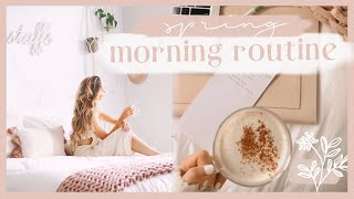 SPRING MORNING ROUTINE   Staying healthy + productive at home! ✨
