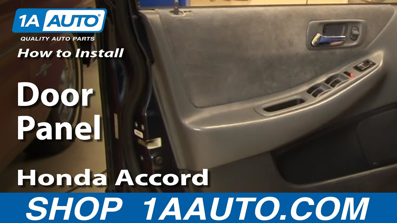 how to install remove door panel honda accord 4dr 98 02 youtube. Black Bedroom Furniture Sets. Home Design Ideas