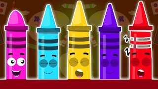 Мелки Ten в кровати | потешки | образовательная детская песня | Crayons Ten In The Bed | Baby Song