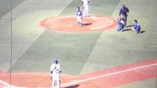 ナックル姫吉田えり選手始球式 2009年3月15日 横浜対オリックス オープ...