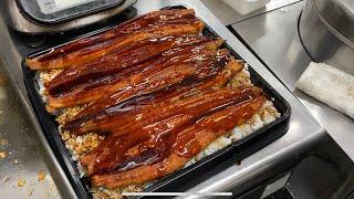鰻丼‼️大盛り‼️デカ盛り‼️3キロ4匹鰻丼作ったよw