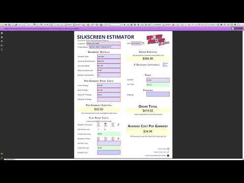 Custom PDF Completion - Quotation Calculator