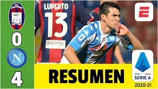 Crotone 0-4 Napoli. Hirving Chucky Lozano anotó en la goleada. Los de Gattuso son terceros | Serie A