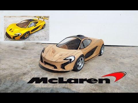 How to make RC Mc Laren || DIY || Cardboard Mc laren P1|| How to make electric toy car