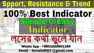 ফরেক্স সাপোর্ট, রেসিস্টেন্স এবং ট্রেন্ড সর্বত্তম ইন্ডিকেটর || Auto Trade Line Indicator || Forex BD