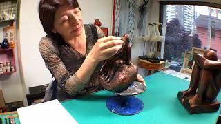 La Tienda de Dina Valencia   S02E61 Escultura con tecnicas de Falsos acabados Metalicos