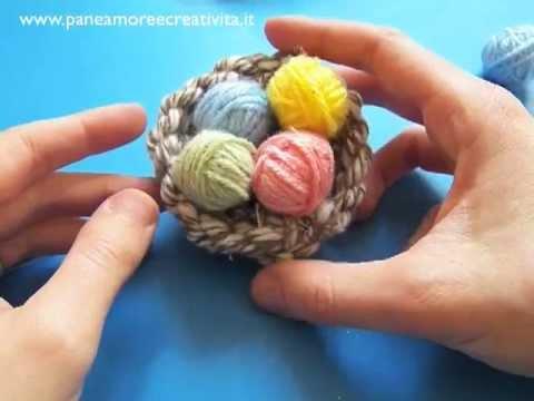 Decorazioni di pasqua fai da te nido e ovetti di lana - Decorazioni oggetti fai da te ...