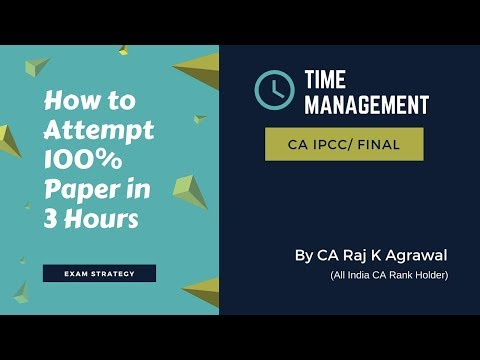 How to Attempt 100% Exam Paper in 3 Hours | Time Management