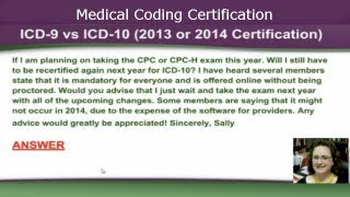 ICD 9 vs. ICD 10 (2013 or 2014 Medical Coding Certification)