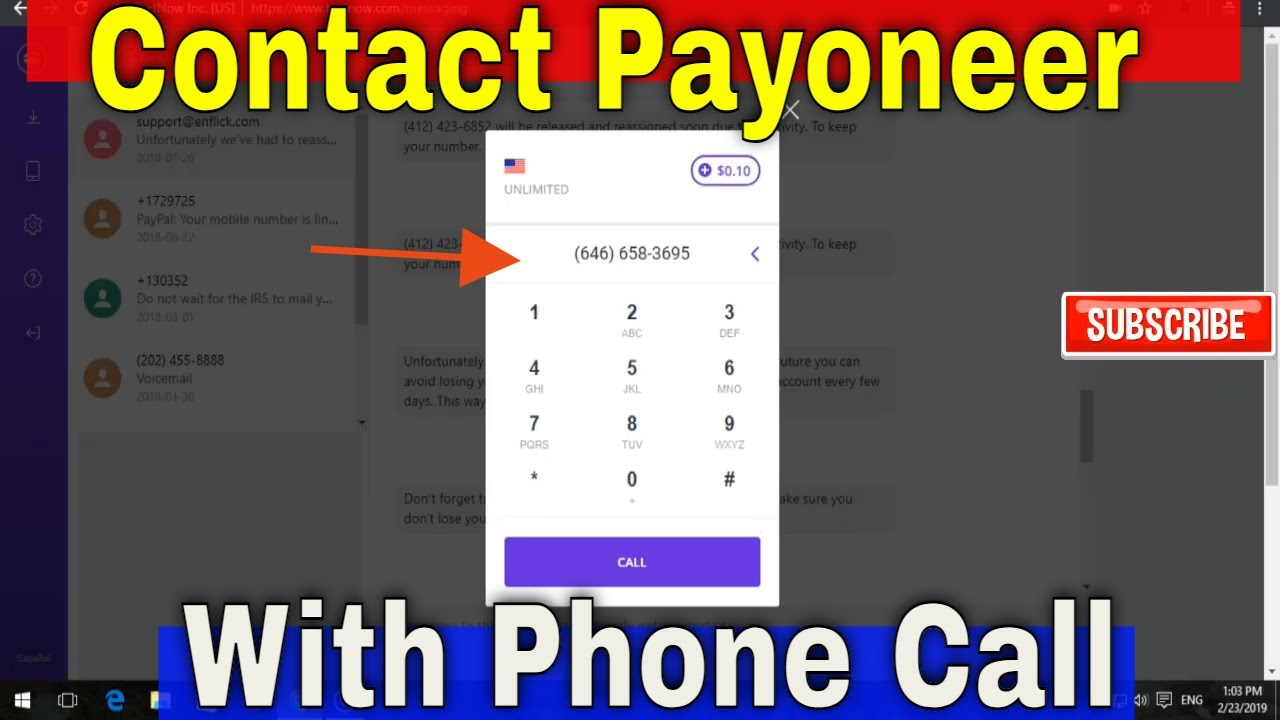 payoneer contact chat