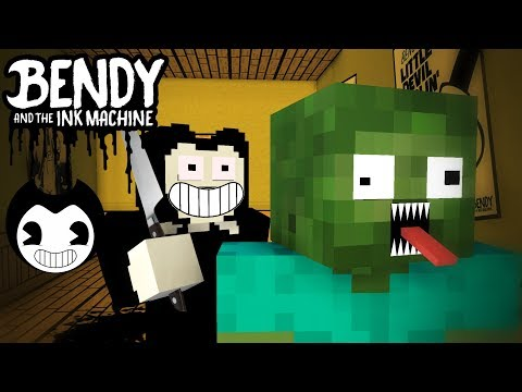 Monster School : BENDY AND THE INK MACHINE CHALLENGE - Minecraft Animation