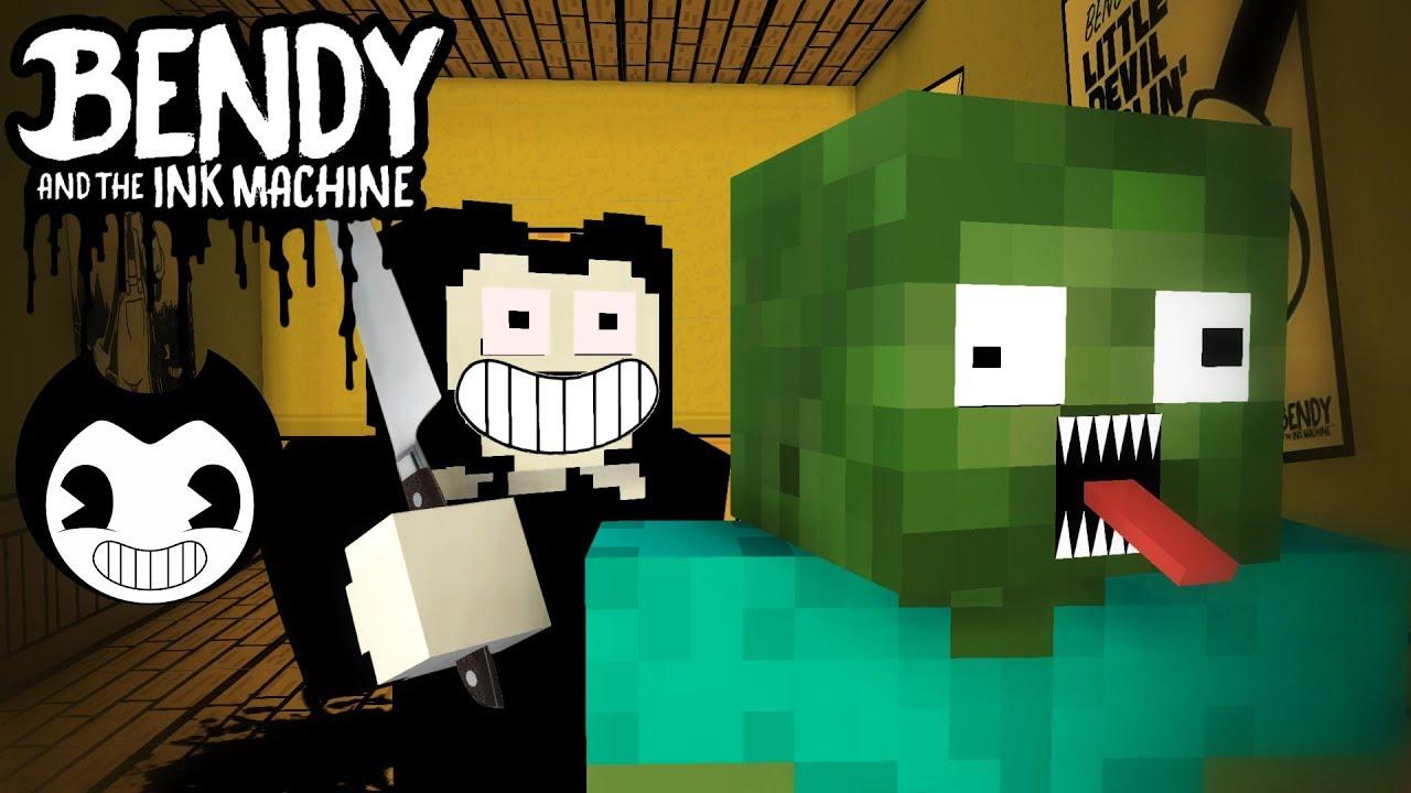 Monster School BENDY AND THE INK MACHINE CHALLENGE Minecraft - Minecraft school spielen