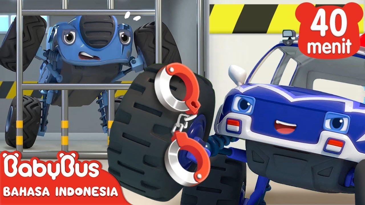 Cepat Cepat, Tangkap Mobil Monster Jahat! | Mobil Monster | Lagu Anak | BabyBus Bahasa Indonesia
