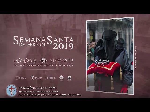 Cofradía de la Soledad Ferrol - Procesión Domingo de Ramos 2019