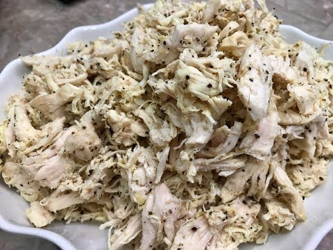 How Boil And Shred My Chicken With Raihanas Cuisines