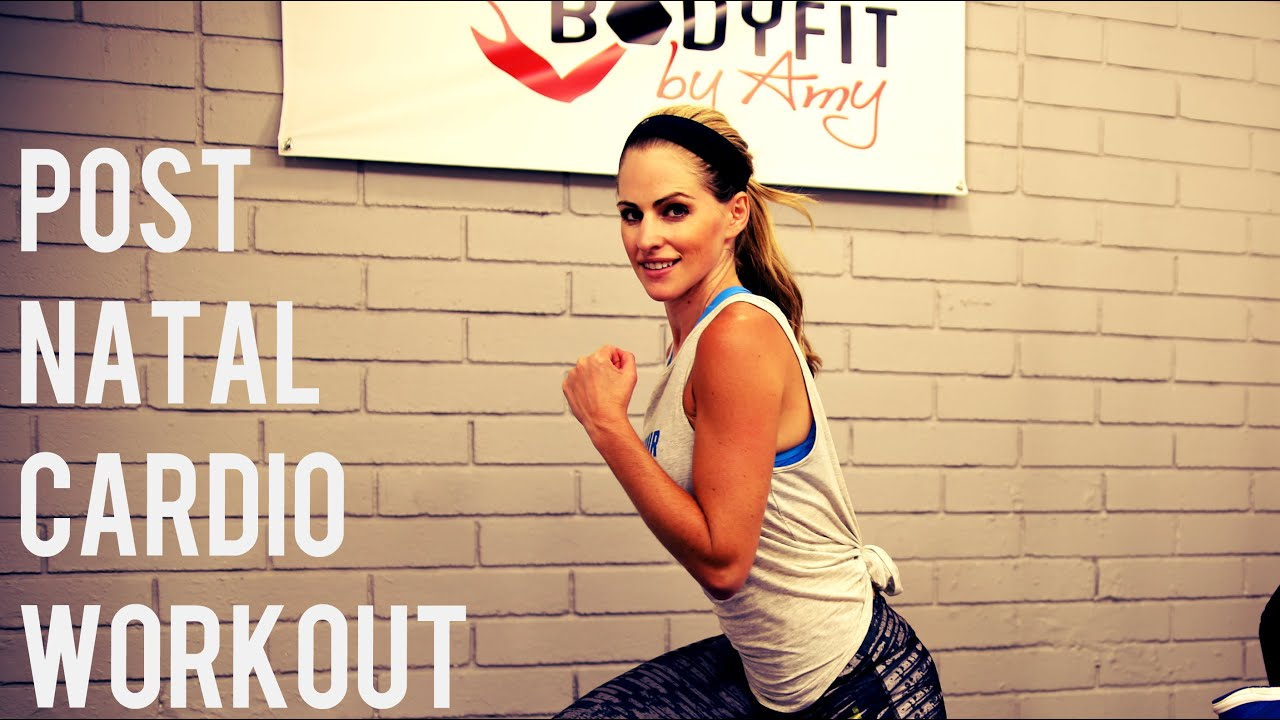 c5b91e19ed0a3 20 Minute Post Natal Cardio Workout For After Pregnancy - YouTube