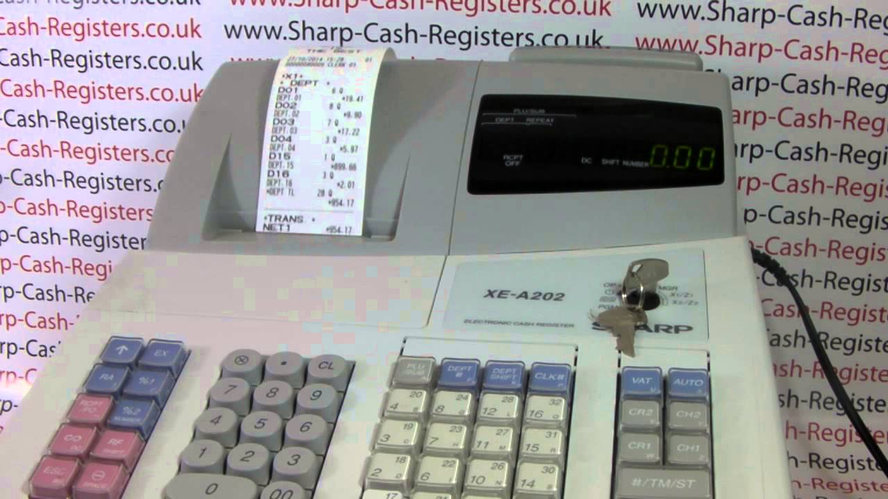 how to produce x report on the sharp xe a202 cash register youtube rh youtube com Cash Register On Change Cash Register On Change
